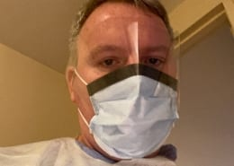 Nurse in PPE mask