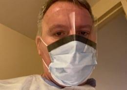Nurse in PPE mask