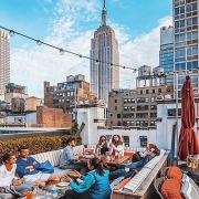 Empire views at Refinery Rooftop