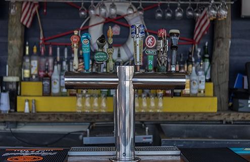 Beer taps at Bungalow Bar