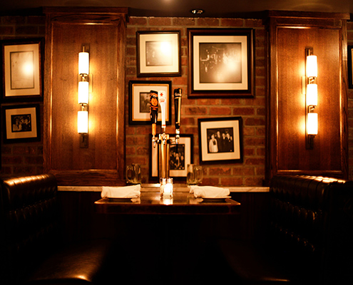 Table taps in the Barrel Room | Park Avenue Tavern