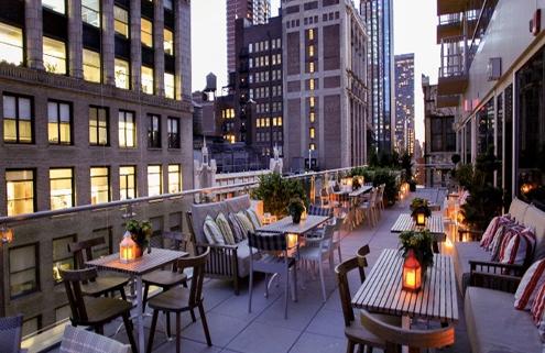 Photo of Mondrian Terrace at dusk