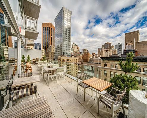 Sunny outside at Mondrian Terrace