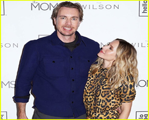 Just Jared Features The Wilson in Kristen Bell & Dax Shepard Couple Up For 'Hello Bello' Launch