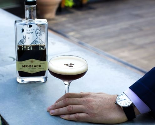 Mr.Black espresso cocktail at Refinery Rooftop