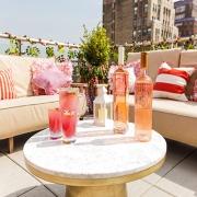 Rosé bottles at, Rosé Terrace