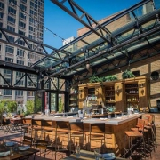 Sunny bar at Refinery Rooftop