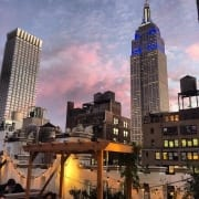 Sunset picture of Empire State Building